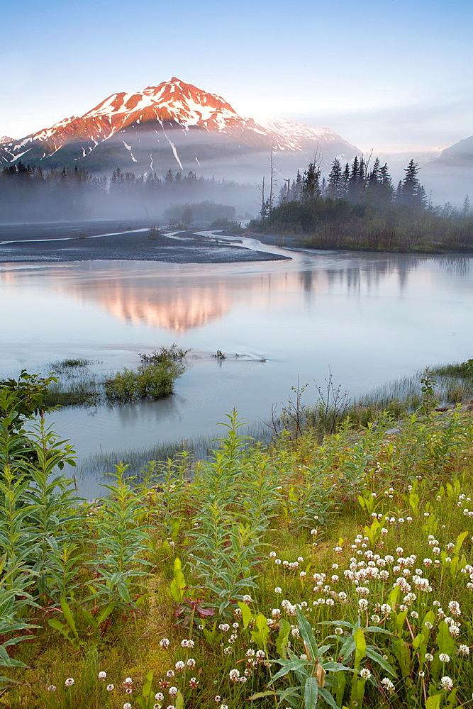 Exit Glacier, Kenai Fjords National Park, Kenai Peninsula, Alaska, USA