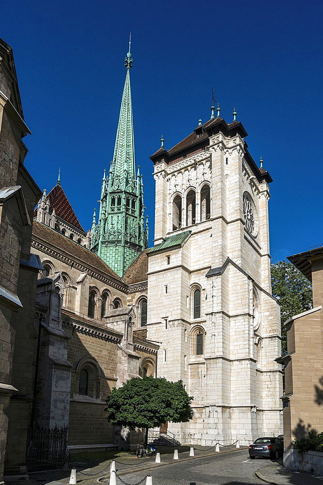 St Pierre Cathedral, known as a home church of John Calvin, in Geneve, Switzerland