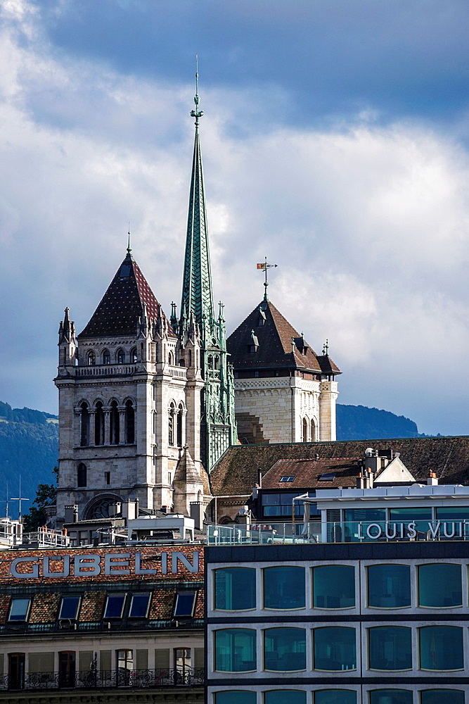St Pierre Cathedral, known as a home church of John Calvin, in Geneve, Switzerlandd