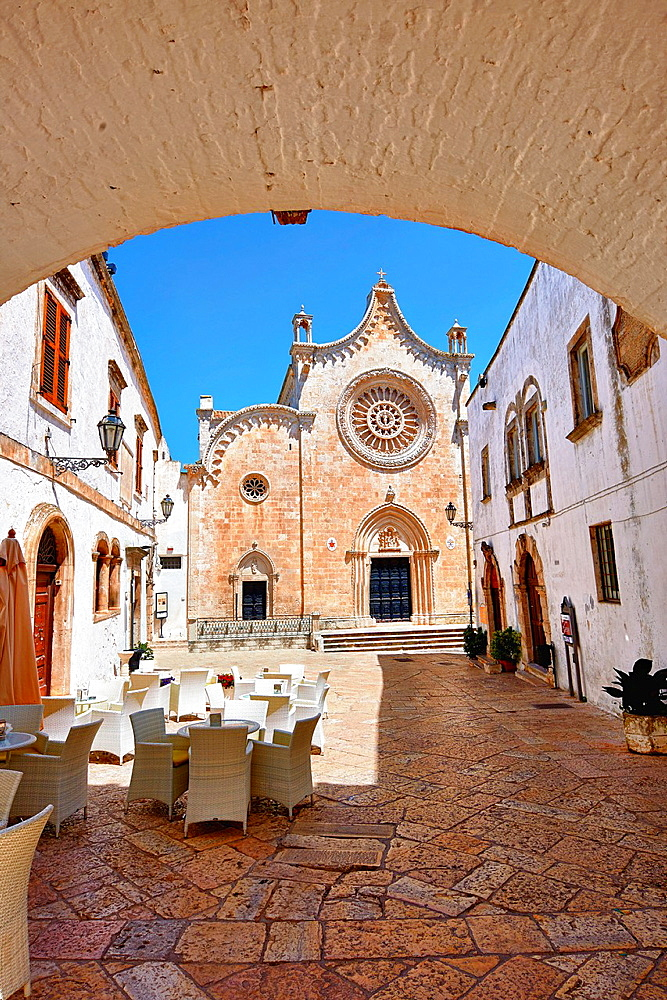 The Italian Gothic Cathedral of Ostuni built between 1569-1495 Ostuni, The White Town, Puglia, Italy
