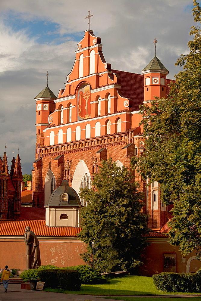 Vilnius  Bernardine church and monastery and the Adam Mickiewicz Monument