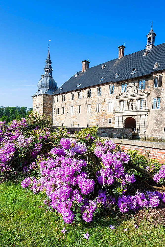 The picturesque moated castle of Lembeck, North Rhine-Westphalia, Germany, Europe