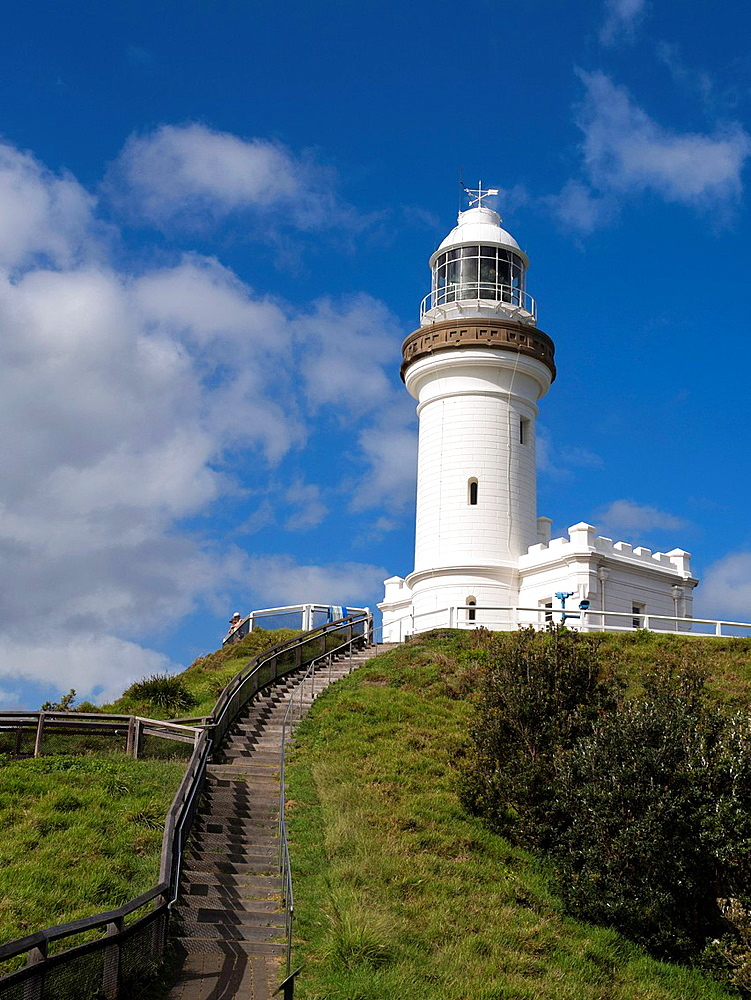 Historic lighthouse at Cape Byron, Byron Bay, New South Wales, Australia