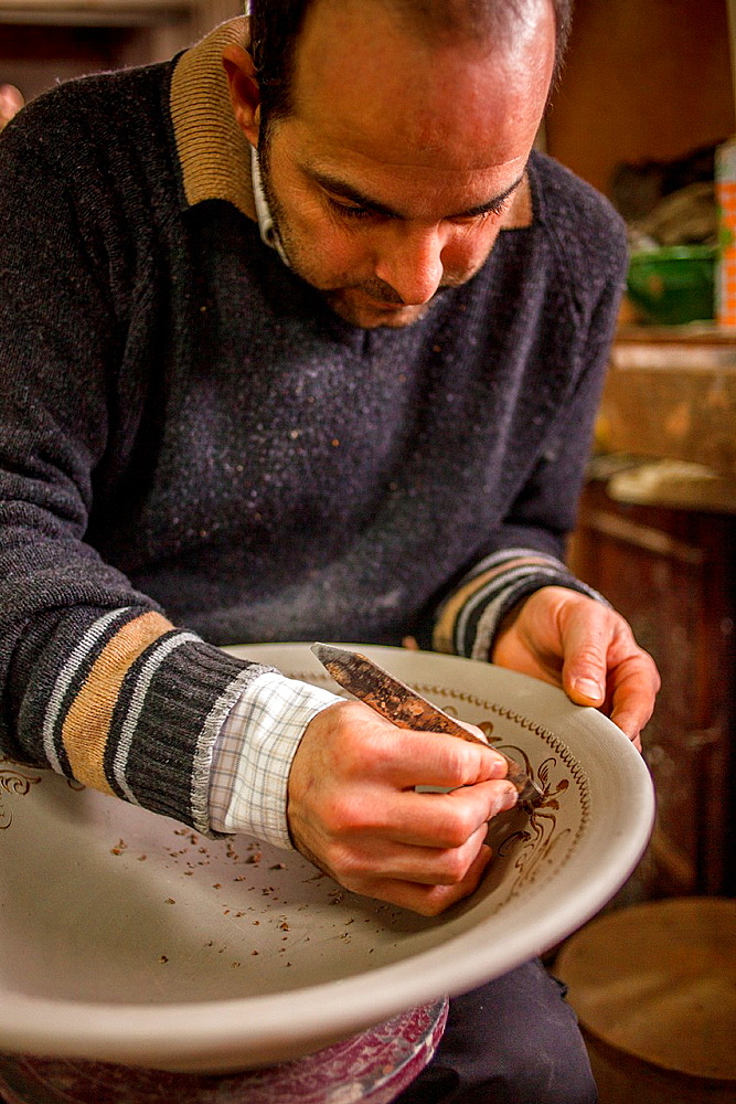 workshop of Alfareria Gongora,pottery,Calle Cuesta de la Merced 32,Ubeda, Andalusia, Spain