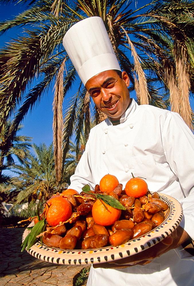 Cook Sahara desert Southern Tunisia.