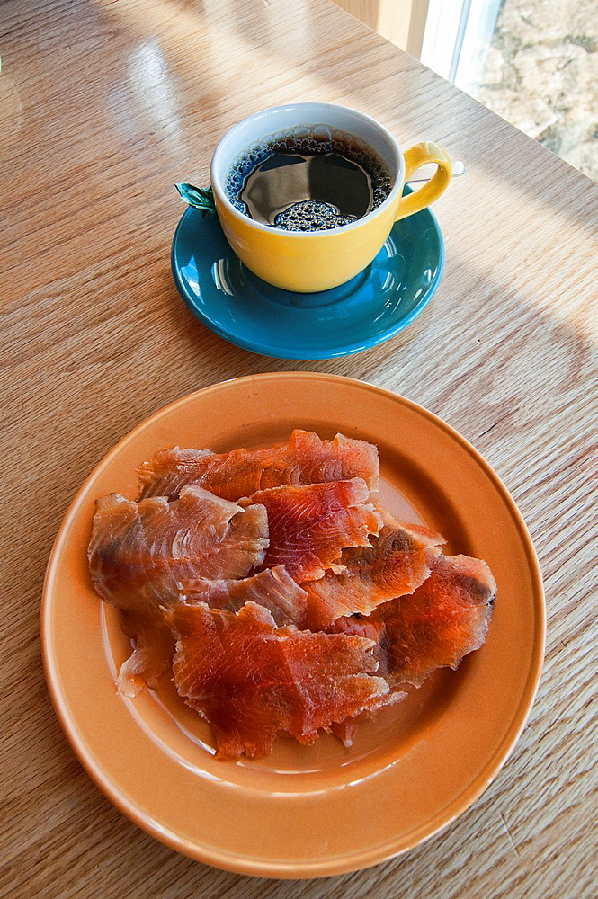 smoked char salmon, a specialty of northern Iceland