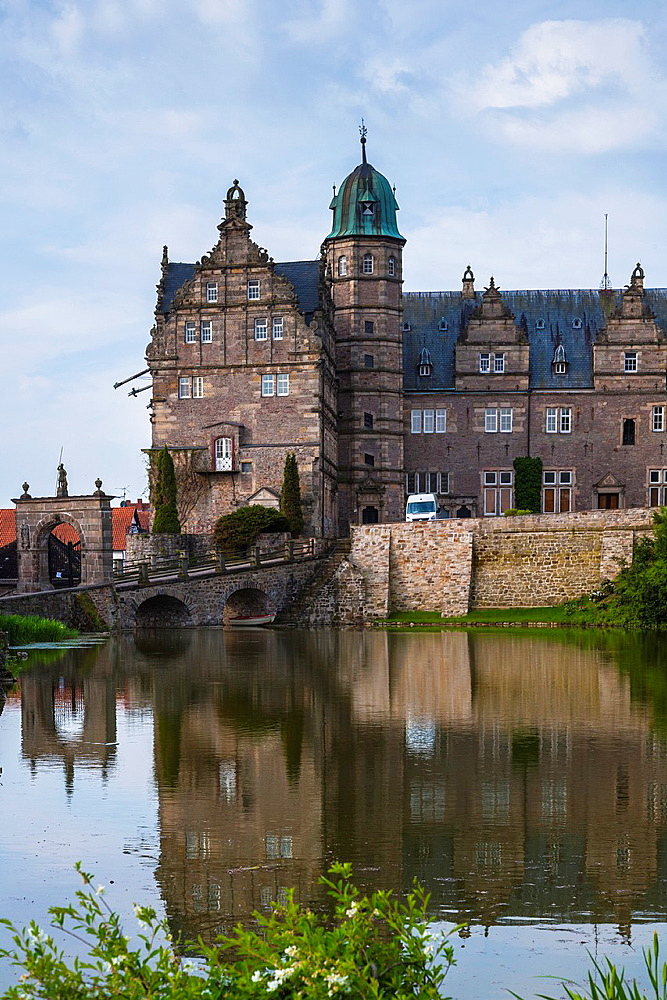 The imposing Haemelschenburg near Hamelin, Lower Saxony, Germany, Europe