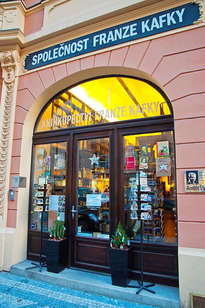 Franz Kafka bookshop Josefov the Jewish district Prague Czech Republic Europe