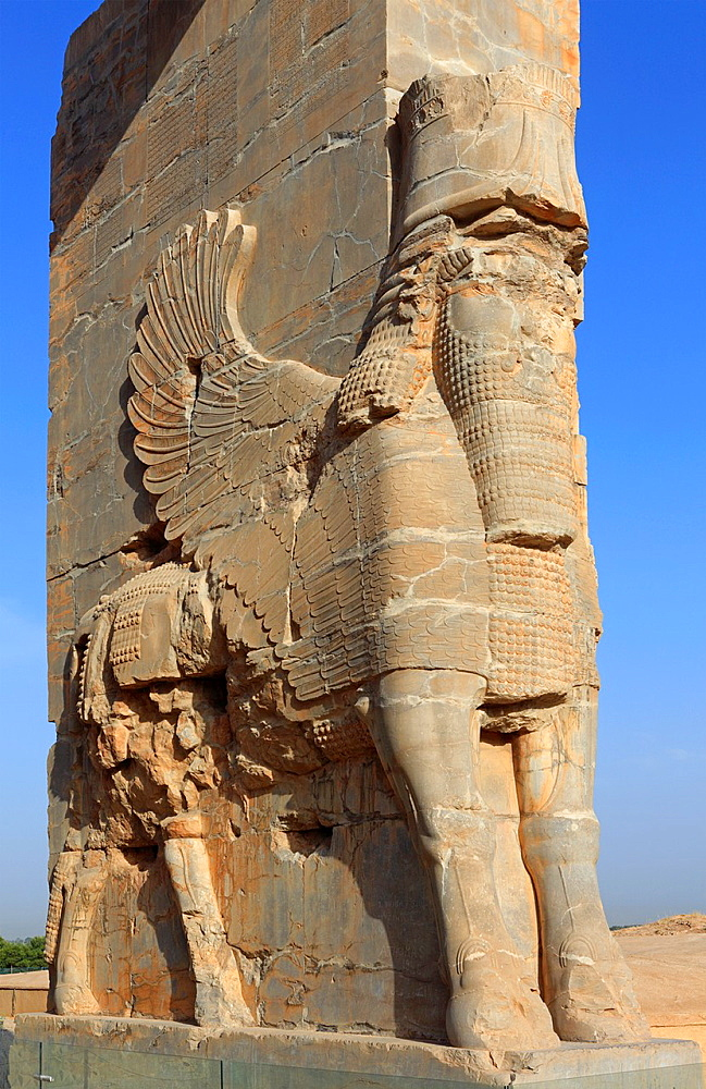 Detail of Xerxes Gate, aka Gate of All Nations, Persepolis, Iran
