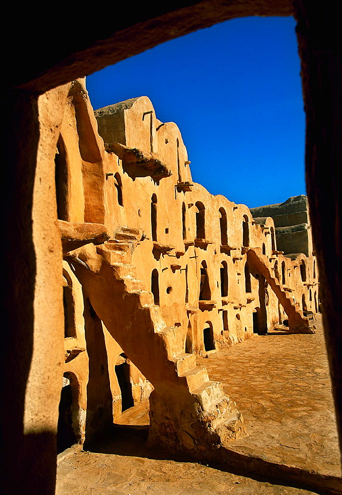 Ksar Ouled Soltane Gorfhas from 11th-13th century Berber buildings Tataoine Southern Tunisia.