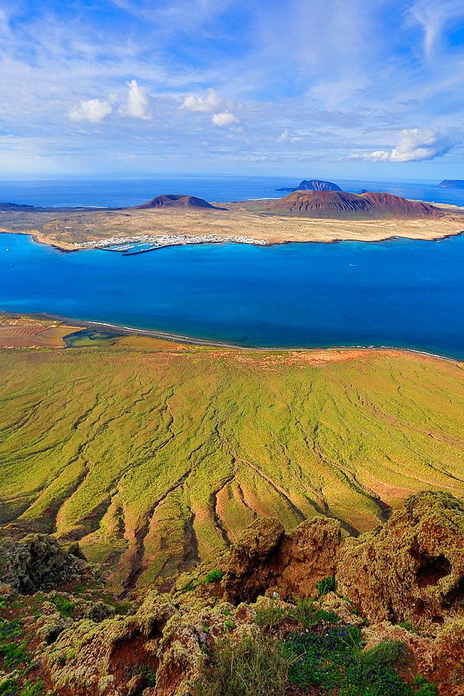 Spain, Canary Islands, Lanzarote Island, Mirador del Rio, Isla Graciosa