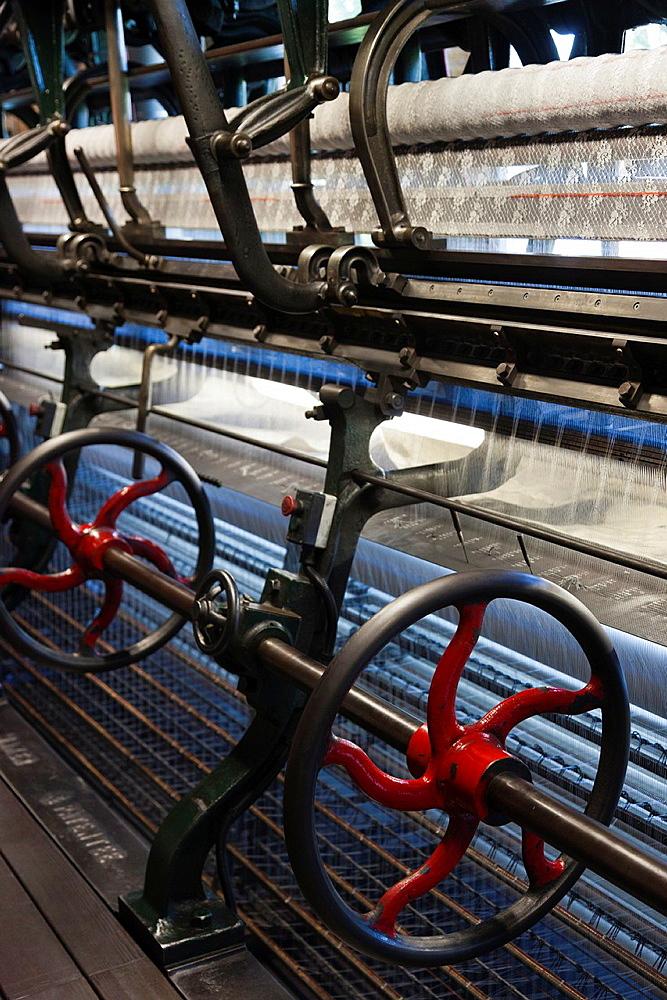 France, Nord-Pas de Calais Region, Pas de Calais Department, Calais, Musee de la Dentelle et de la Mode, museum of lace and fashion, 20th century lace making machines