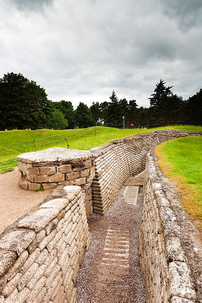 France, Nord-Pas de Calais Region, Pas de Calais Department, Vimy, Vimy Ridge National Historic Site of Canada, World War One battle site and memorial to Canadian troops, replica trenches