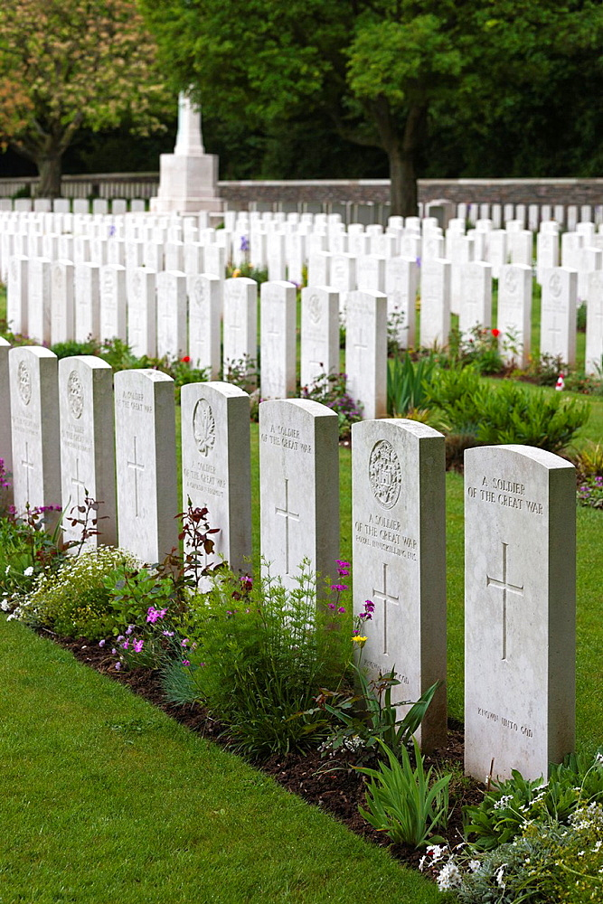 France, Nord-Pas de Calais Region, Pas de Calais Department, Vimy, Vimy Ridge National Historic Site of Canada, World War One battle site and memorial to Canadian troops, Canadian cemetery Number 2