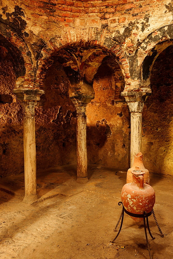 Arab baths,, Banys Arabs -, X century, Palma, Mallorca, Balearic Islands, Spain, Europe