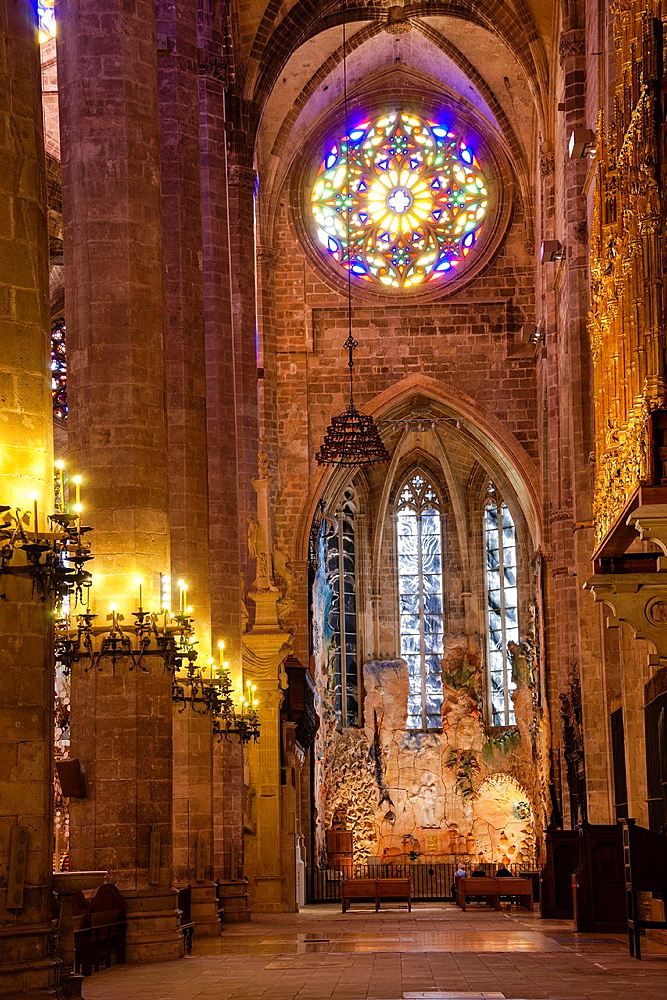 Chapel of Eucharistic Adoration, 2007, by Miquel Barcelo, Mallorca Cathedral, XIII Century, Historic-Artistic, Palma, Mallorca, Balearic Islands, Spain, Europe