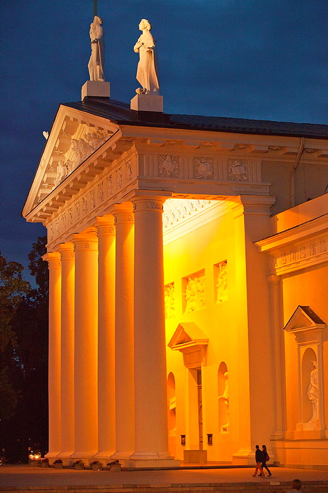 Vilnius The St Stanislas Cathedral by night