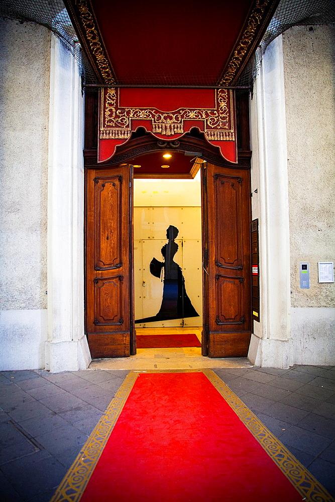 Entrance in Hofburg, Vienna, Austria