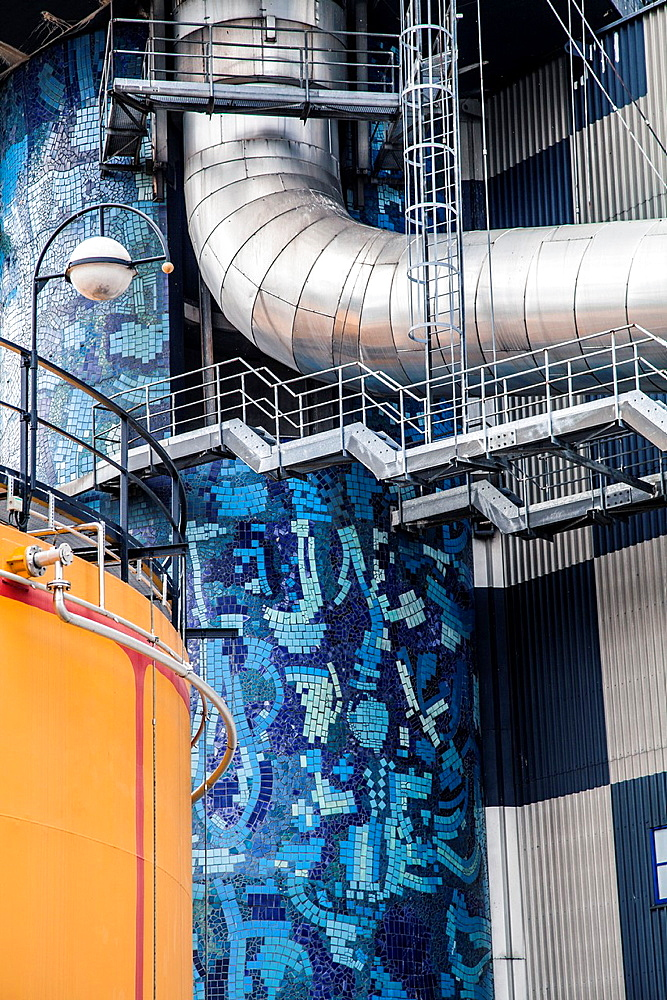 Incinerator of Vienna, designed by Friedensreich Hundertwasser, Vienna, Austria