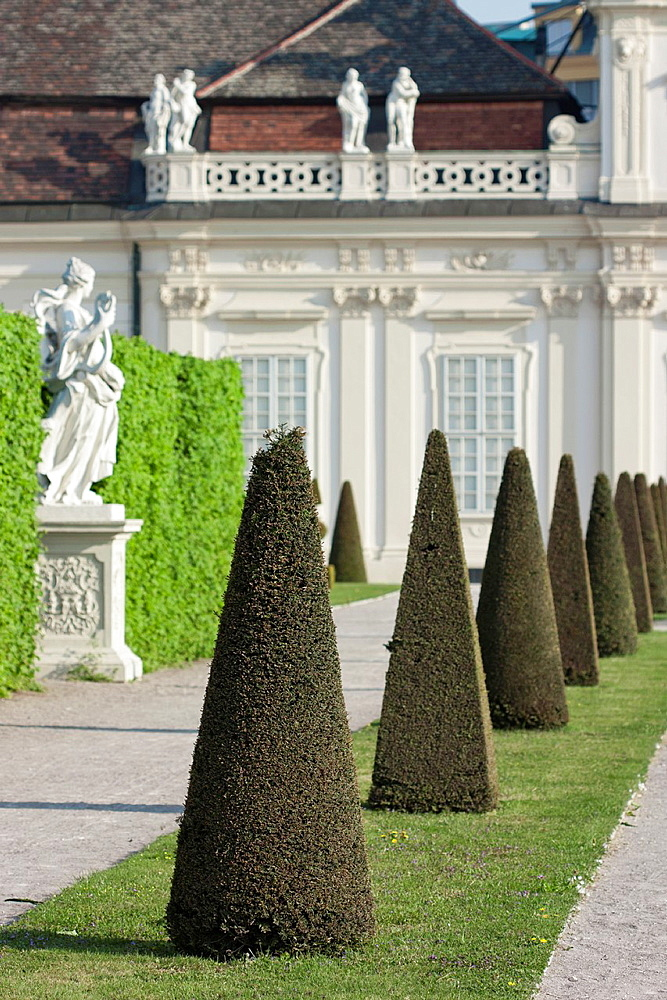 Topiary at belvedere, Vienna Austria