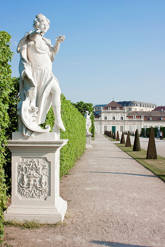 Statue at Palace belvedere Vienna