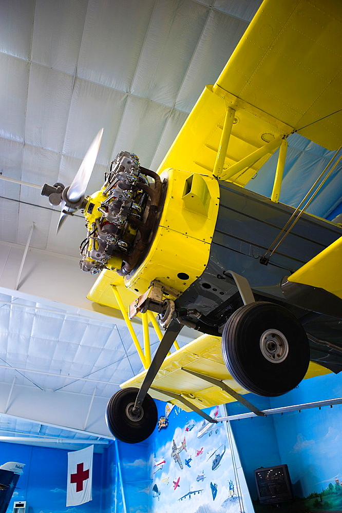 USA, North Dakota, Fargo, Fargo Air Museum, crop duster aircraft