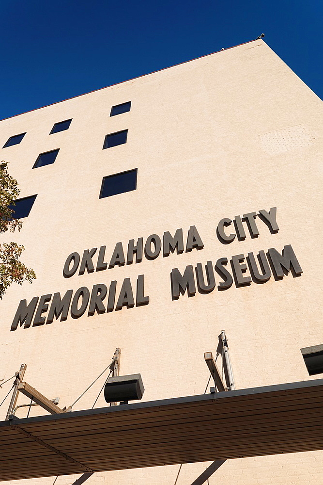 USA, Oklahoma, Oklahoma City, Oklahoma City National Memorial to the victims of the Alfred P  Murrah Federal Building Bombing on April 19, 1995, museum building, exterior