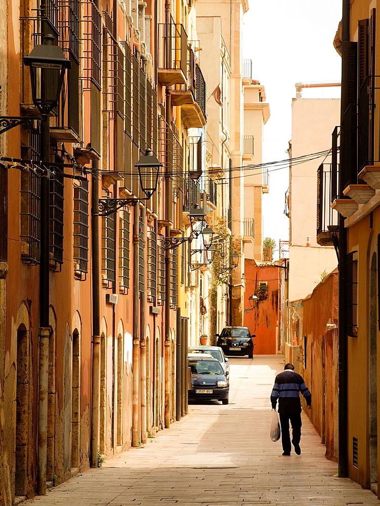 Street, pedestrian. Tarragona, Catalonia, Spain.