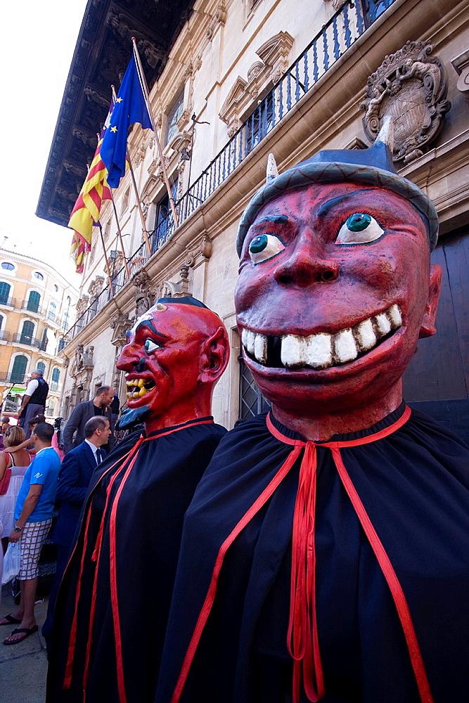 traditional festival in Palma de Mallorca, Spain