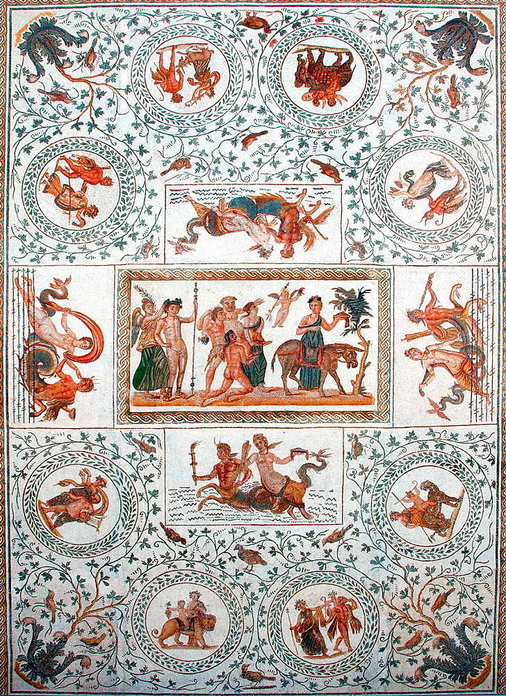 Roman mosaic, Ancient Carthage, antique city, Tunisia, Africa