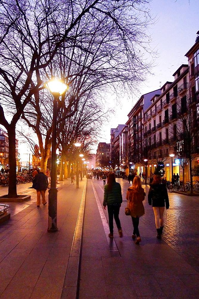 Boulevard, Donostia, San Sebastian, Gipuzkoa, Basque Country, Spain.