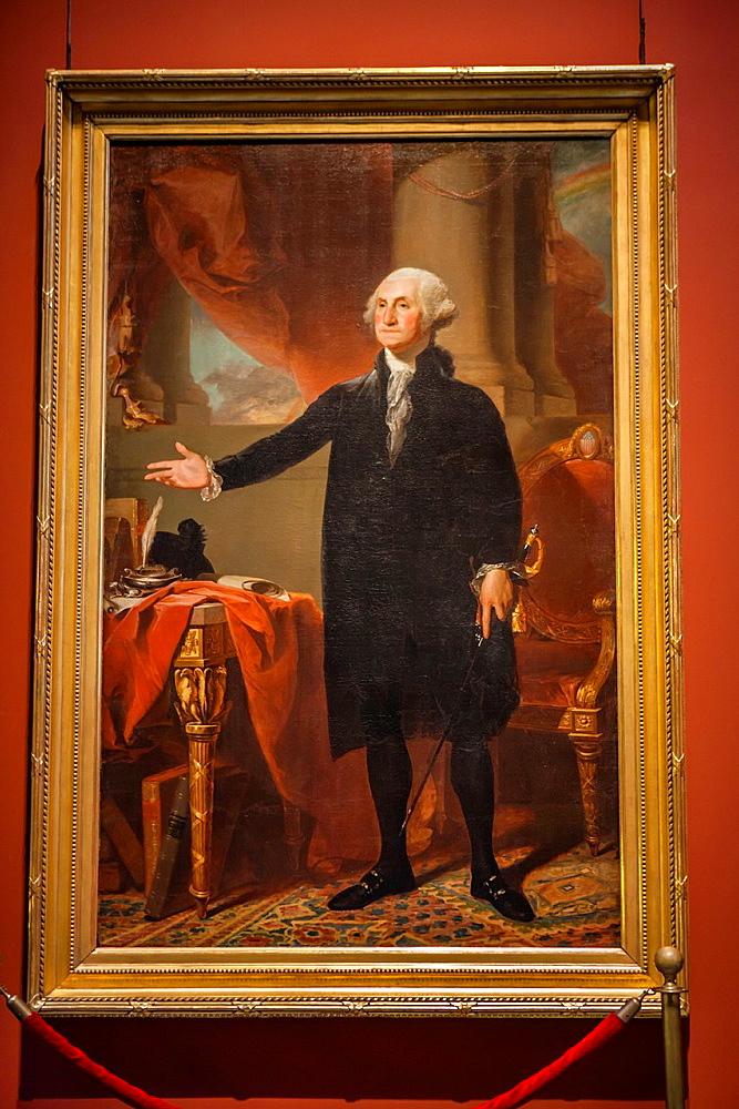 George Washington The Lansdowne Portrait 1732-1799 by Gilbert Stuart at the Pennsylvania Academy of the Fine Arts PAFA