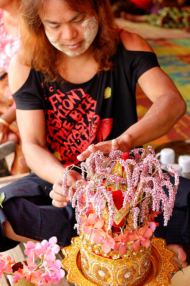 Yadanagu nats festival Amarapura Mandalay Division Burma Republic of the Union of Myanmar.
