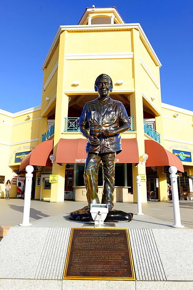 Statue Dr Claude Watheby Philipsburg St Martin Maarten Caribbean Island Netherland Antilles