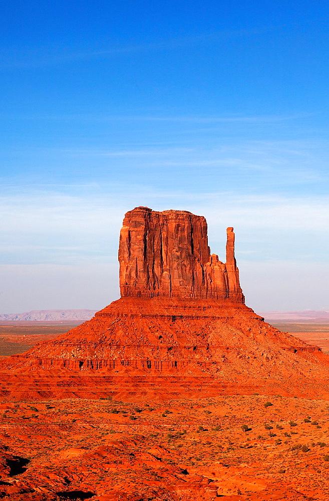 West Mitten Butte,Monument Valley, Arizona, USA