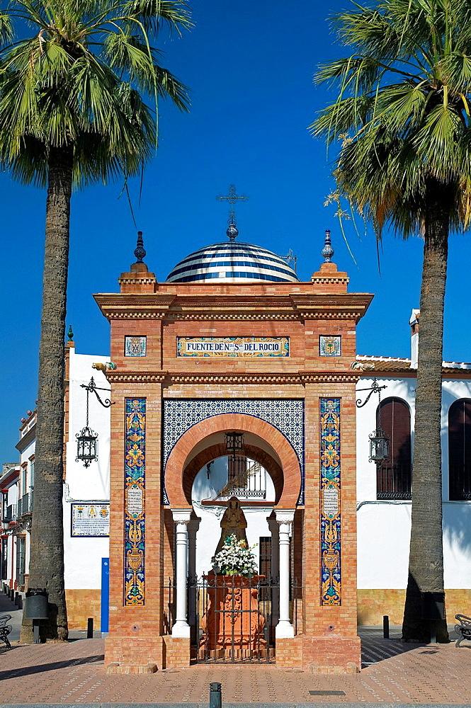 Fountain of Nuestra Senora del Rocio, La Palma del Condado, Huelva-province, Spain