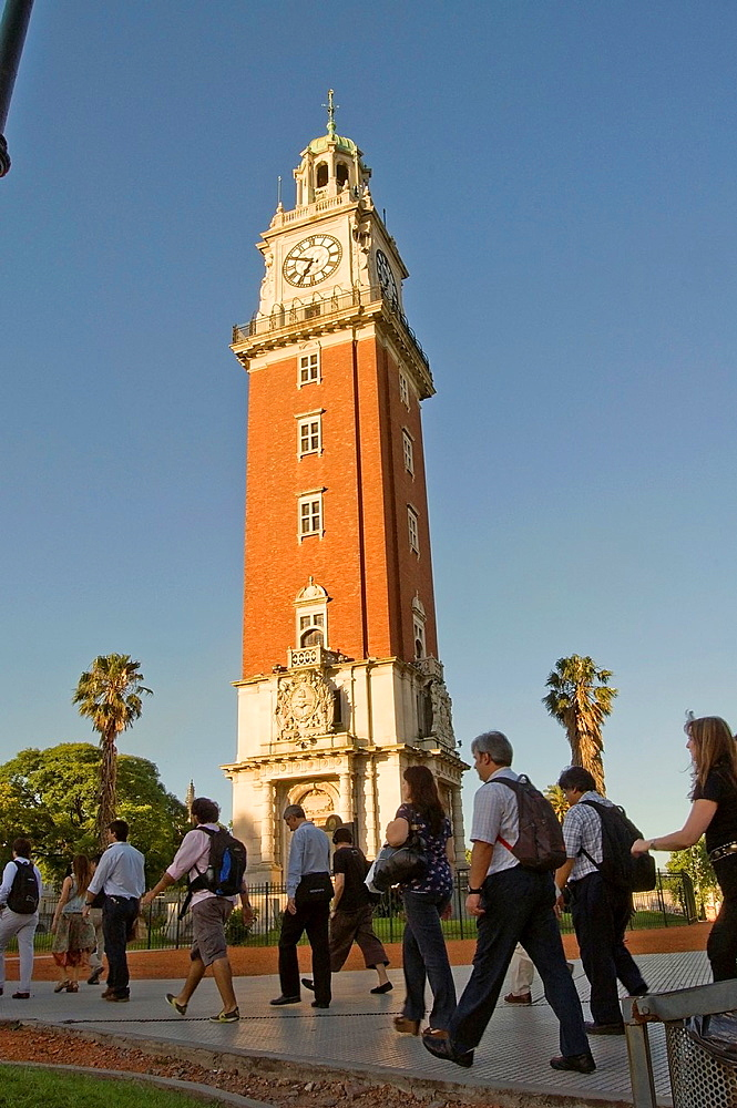 Torre Monumental Tower of the English before 1982, clock tower in the Fuerza Aerea Argentina square, district of Retiro, Buenos Aires city, Argentina, South America