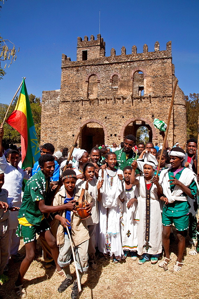Local People Celebrating Timkat The Festival of Epiphany, Gondar, Ethiopia - 817-433981