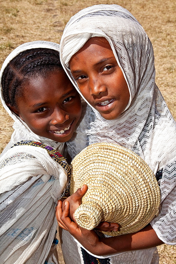 Local Girls Celebrating Timkat The Festival of Epiphany, Gondar, Ethiopia - 817-433983