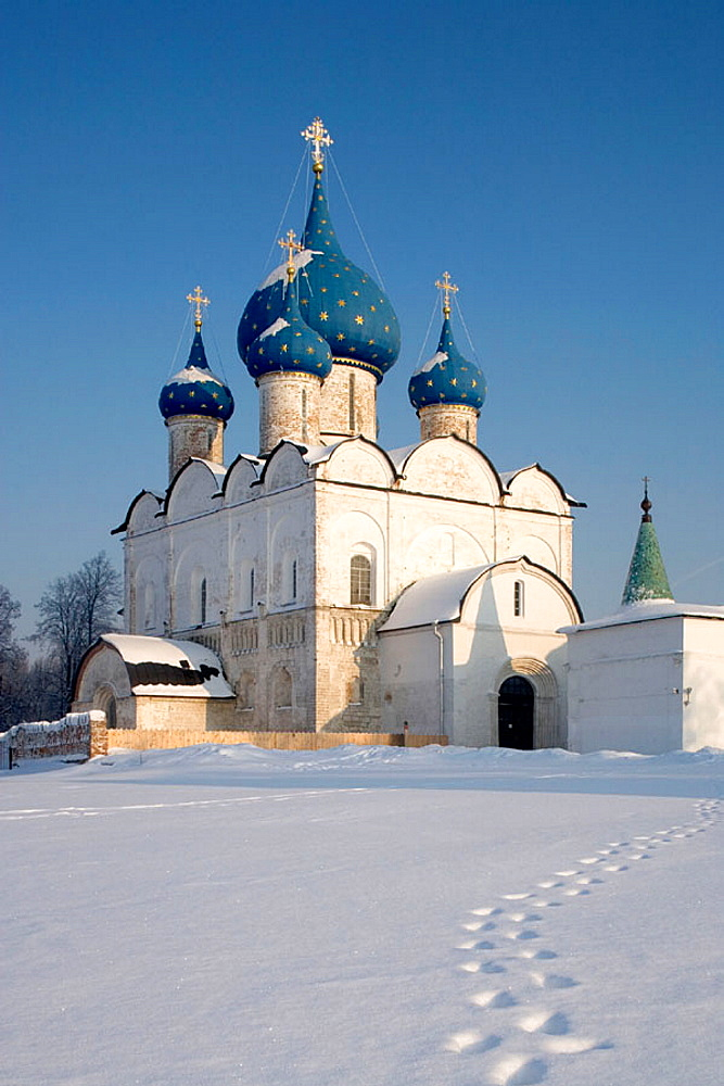 The Kremlin, Cathedral of the Nativity of the Virgin, 1222-25, Suzdal, Golden Ring, Russia