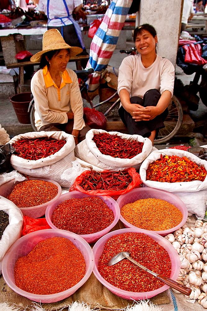 Xingping Market near Guilin, Guangxi Province, China