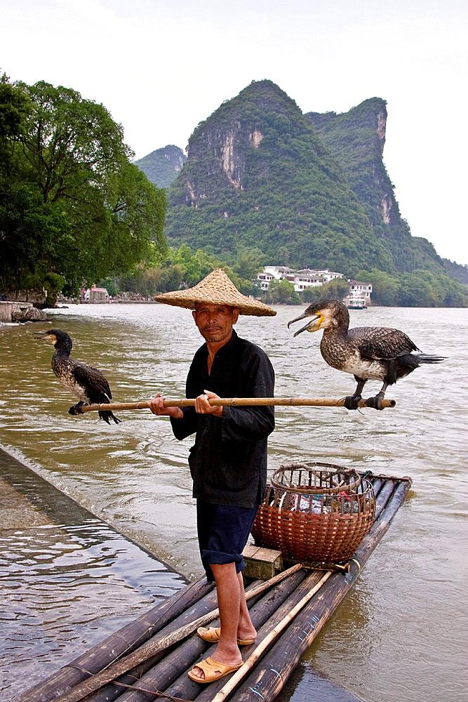 Cormorant Fisherman, Yangshuo, Guangxi Province, China
