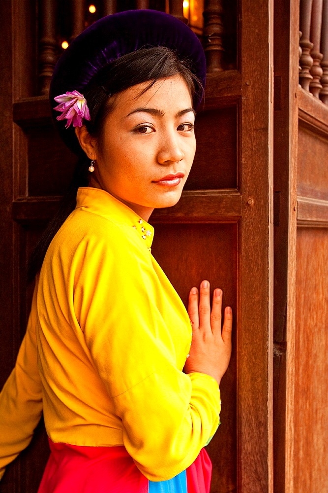 Female Musician, Temple of Literature, Hanoi, Vietnam