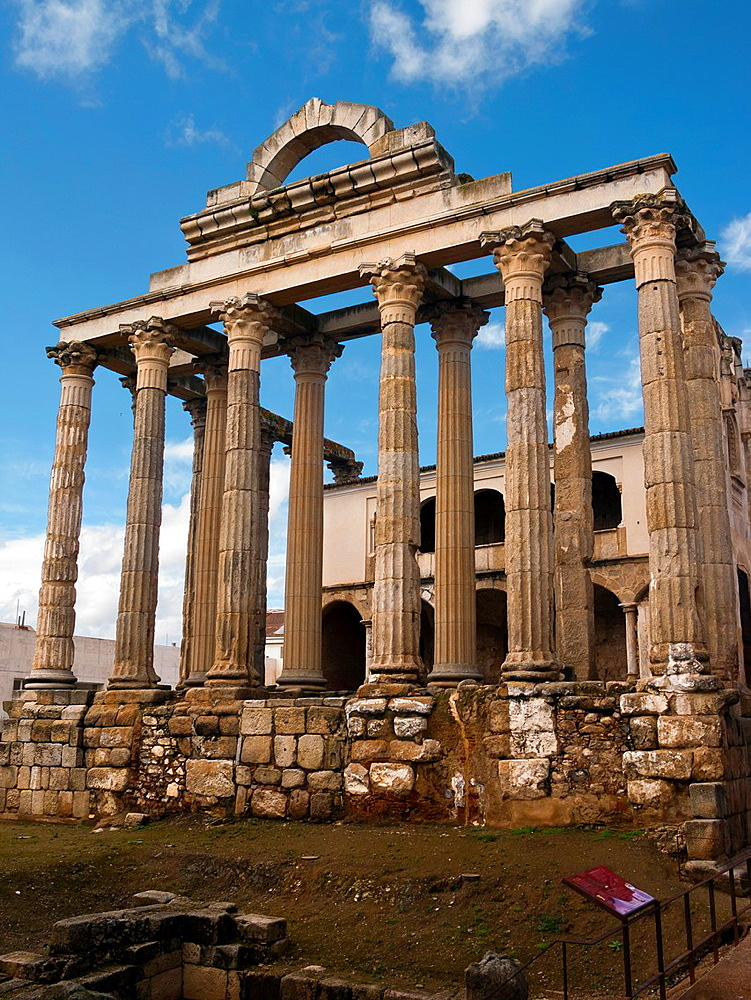Diana Temple in Merida Badajoz Extremadura Spain