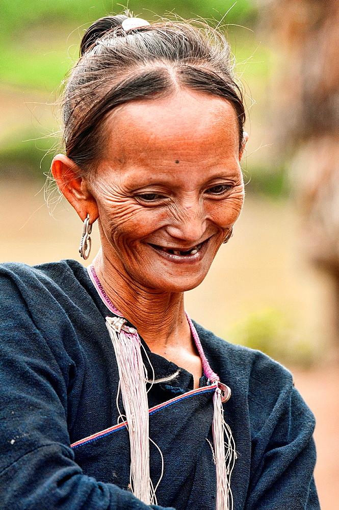 portrait of a Lanten woman, Luang Nam Tha, Laos