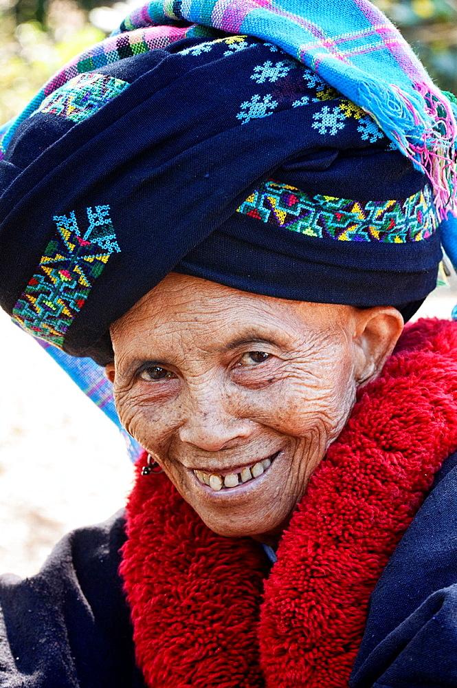 Portrait of an ethnic Yao woman, Muang Singh, Laos