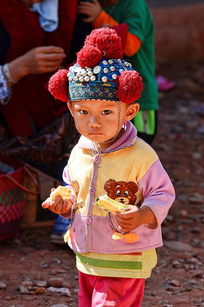 portrait of an ethnic Yao boy, Muang Singh, Laos