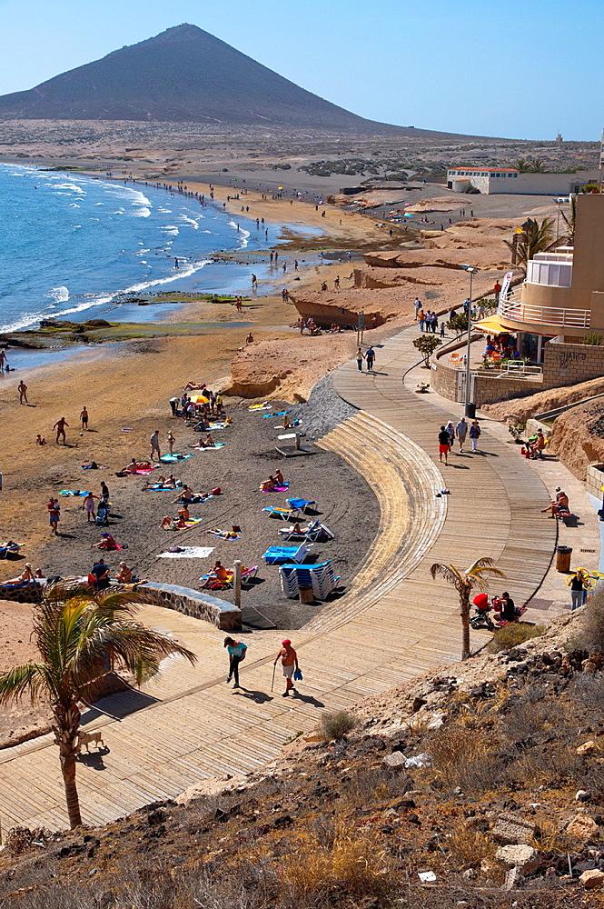 Paseo Nuestra Senora Mercedes de Roja seaside promenade El Medano town Tenerife island the Canary Islands Spain Europe