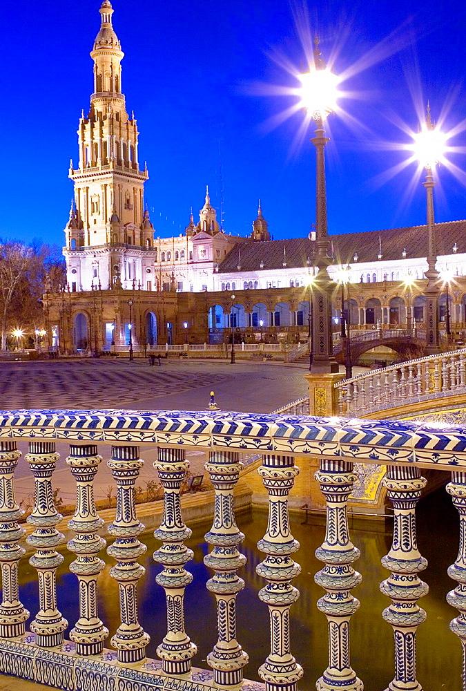 Plaza de Espana,Maria Luisa Park, Sevilla,Andalucia, Spain