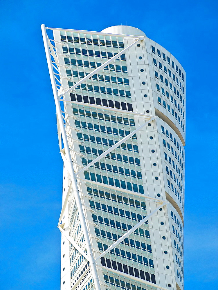 Turning Torso, with 190 metres highest skyscraper of Scandinavia, Malmo Municipality, Skane County, Sweden, Europe